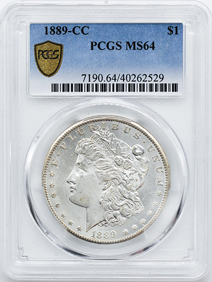 Picture of 1889-CC MORGAN S$1 MS64