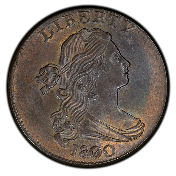 Picture of 1800/79 DRAPED BUST 1C MS63 Brown