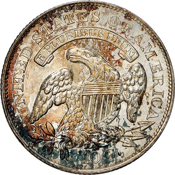 Picture of 1834 CAPPED BUST 10C, SMALL 4 MS66