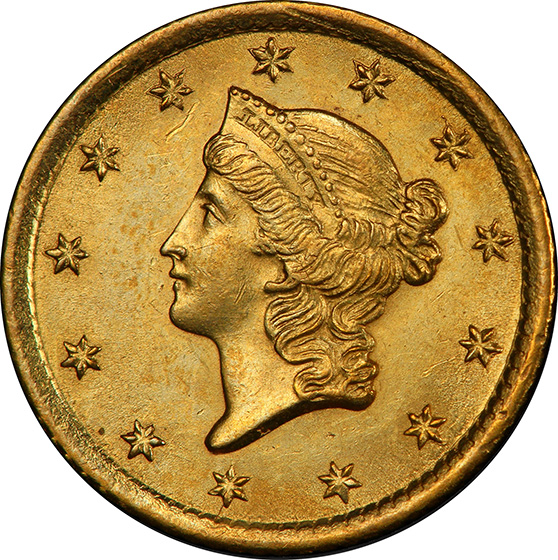 Picture of 1852-O GOLD G$1, TYPE 1 MS64