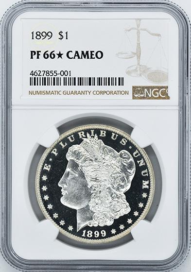 Picture of 1899 MORGAN S$1 PR66 Cameo