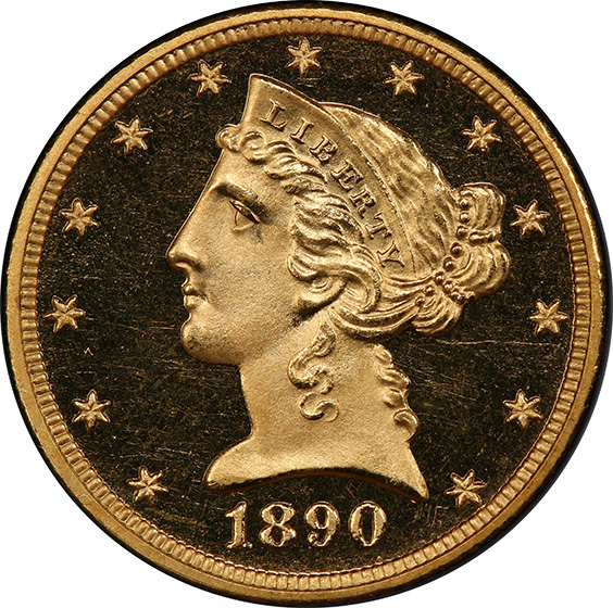 Picture of 1890 LIBERTY $5 PR66 Deep Cameo