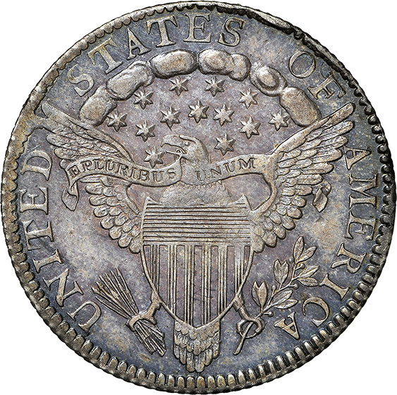 Picture of 1798 DRAPED BUST 10C, LARGE 8 MS64
