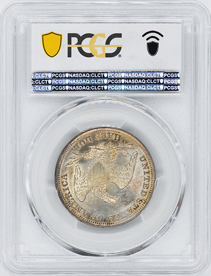 Picture of 1838 CAPPED BUST 50C, REEDED EDGE MS65+