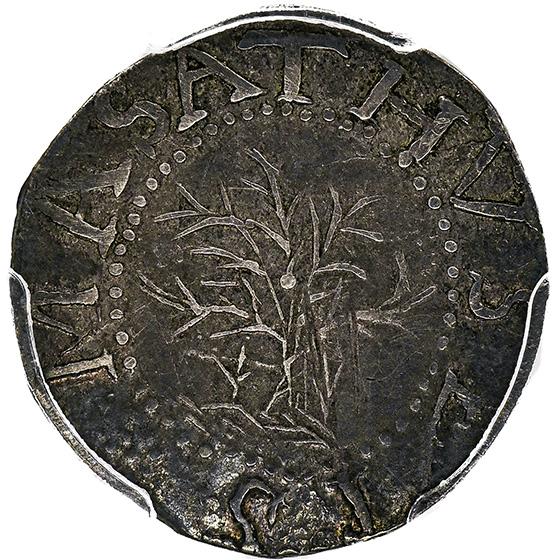 Picture of 1652 OAK TREE 6 PENCE, 'IN' ON REVERSE AU55