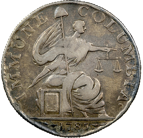 Picture of 1785 IMMUNE COLUMBIA SILVER PATTERN, 13 STARS, REEDED EDGE VF35