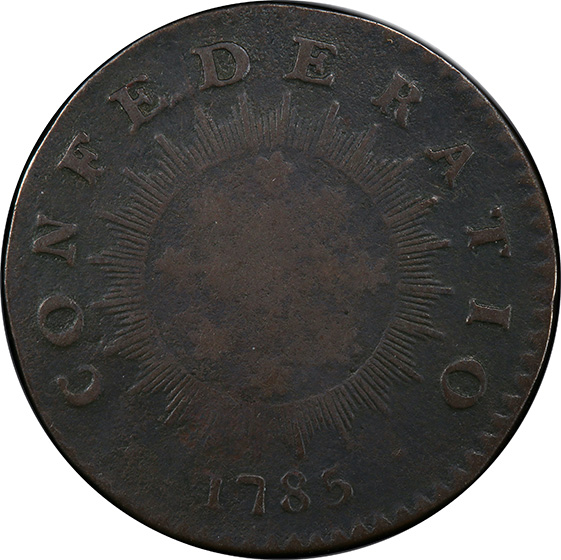 Picture of 1785 INIMICA TYRANNIS CONFEDERATIO, LARGE CIRCLE, LARGE STARS VF20
