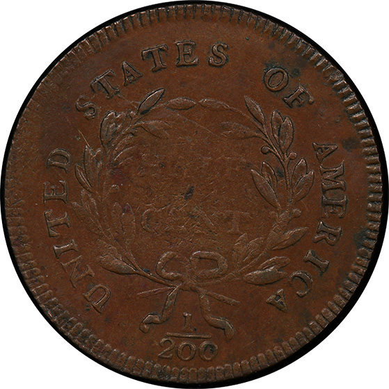 Picture of 1795 LIBERTY CAP 1/2, PE PUNCTUATED DATE AU58 Brown