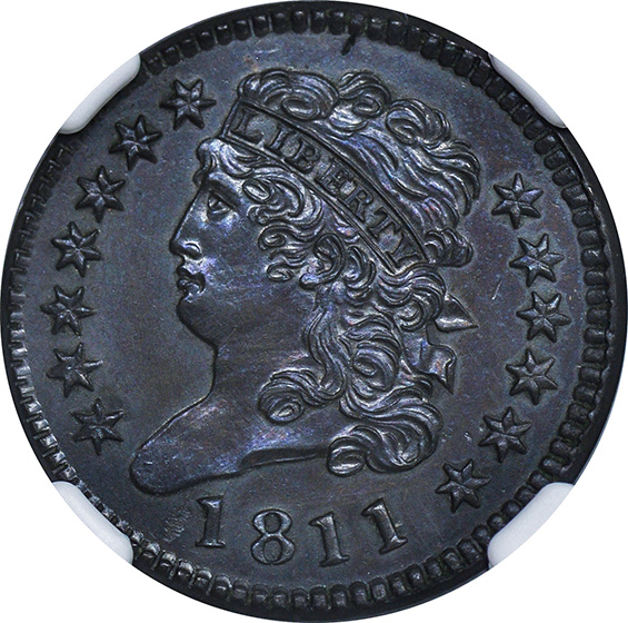 Picture of 1811 CLASSIC HEAD 1/2C MS64 Brown