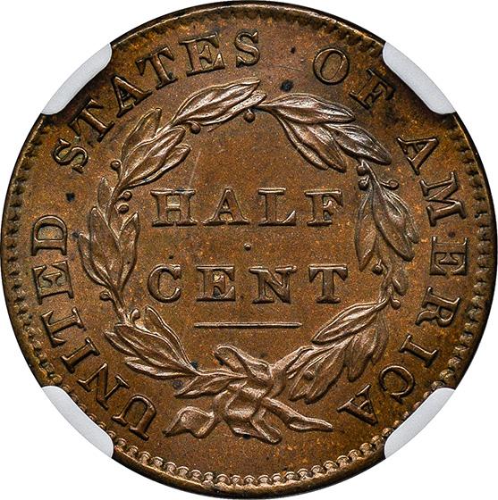 Picture of 1832 CLASSIC HEAD 1/2C PR65 Brown