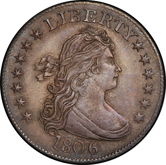 Picture of 1806 DRAPED BUST 25C, HERALDIC EAGLE MS65