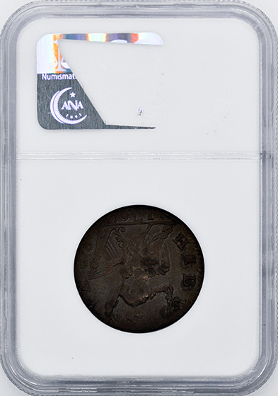 Picture of 1760 VOCE POP, P AT FACE 1/2 P MS61 Brown