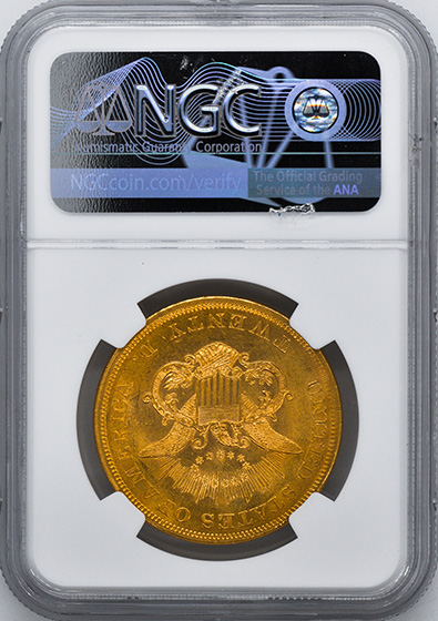 Picture of 1853 LIBERTY HEAD $20 MS63