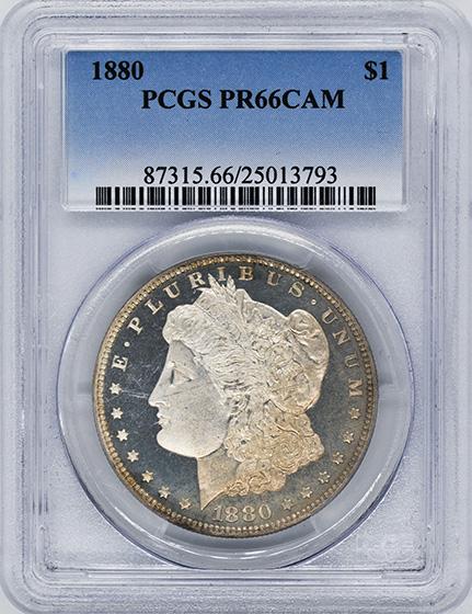 Picture of 1880 MORGAN S$1 PR66 Cameo