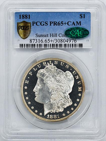 Picture of 1881 MORGAN S$1 PR65+ Cameo