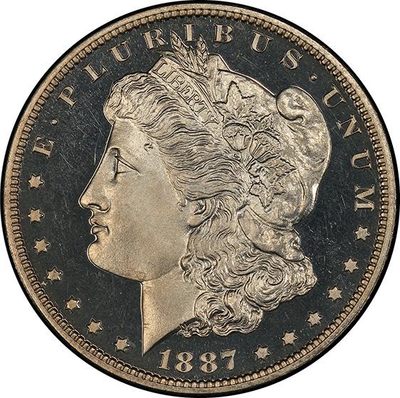 Picture of 1887 MORGAN S$1 PR66 Cameo