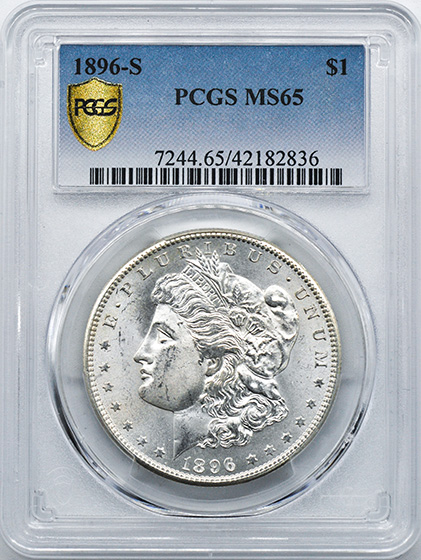 Picture of 1896-S MORGAN S$1 MS65