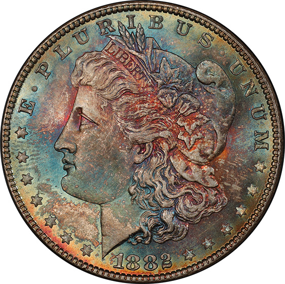 Picture of 1882 MORGAN S$1 MS67