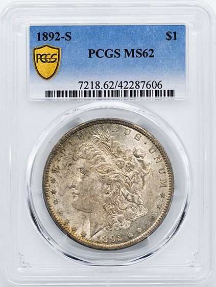 Picture of 1892-S MORGAN S$1 MS62