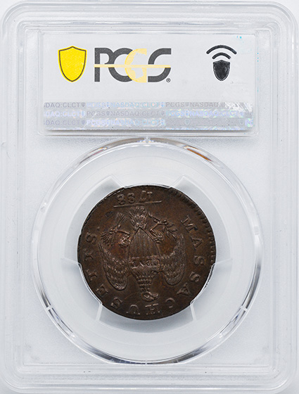 Picture of 1788 MASSACHUSETTS 1C, PERIOD, MASSACHUSETTS, PERIOD MS65 Brown