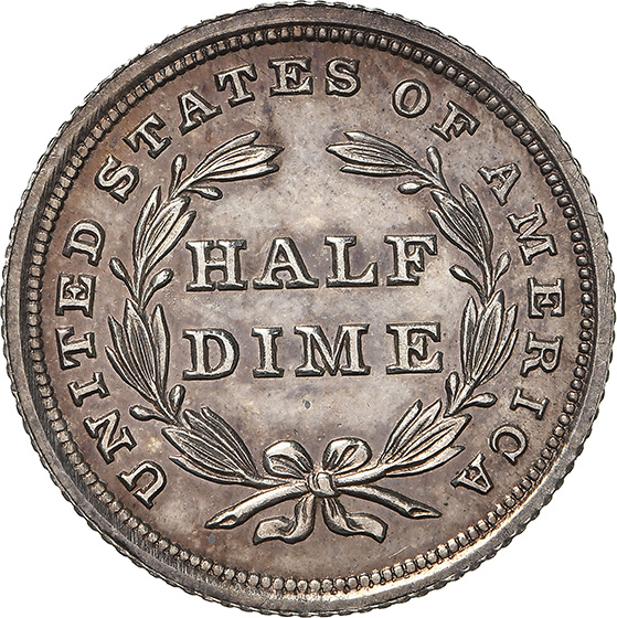 Picture of 1839 LIBERTY SEATED H10C, NO DRAPERY PR65 Cameo