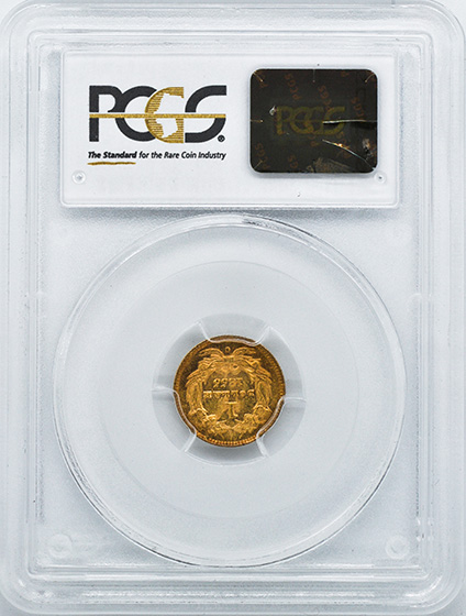 Picture of 1855-C GOLD G$1, TYPE 2 MS61