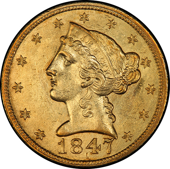 Picture of 1847-C LIBERTY $5 MS61