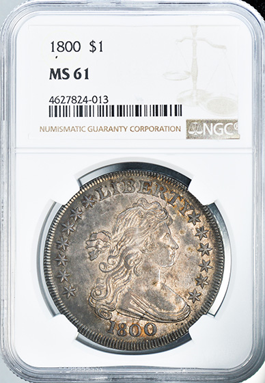 Picture of 1800 DRAPED BUST $1 MS61