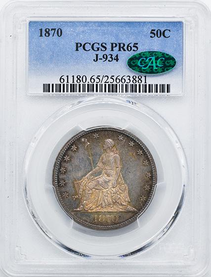 Picture of 1870 50C J-934 PR65