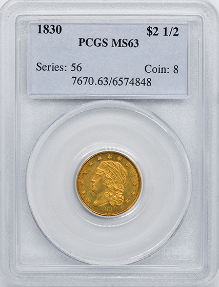 Picture of 1830 CAPPED BUST $2.5 MS63