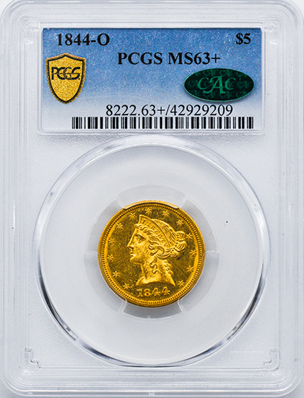 Picture of 1844-O LIBERTY $5 MS63+
