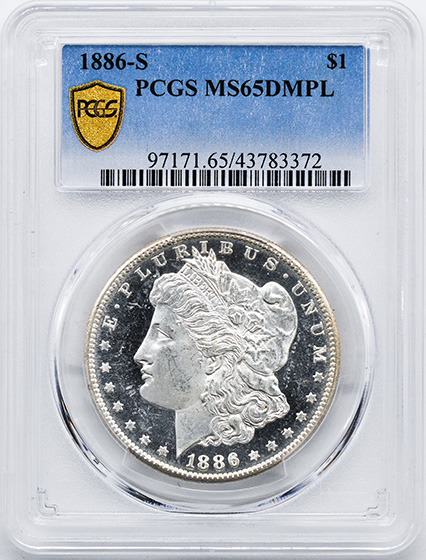 Picture of 1886-S MORGAN S$1 MS65 DMPL