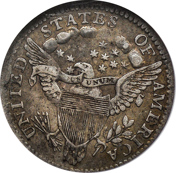 Picture of 1802 DRAPED BUST H10C AU50