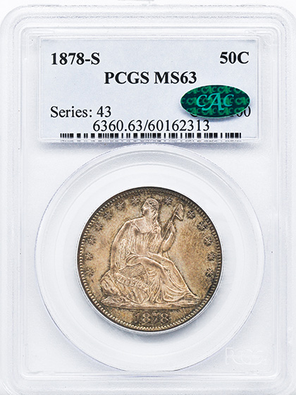 Picture of 1878-S LIBERTY SEATED 50C, MOTTO MS63