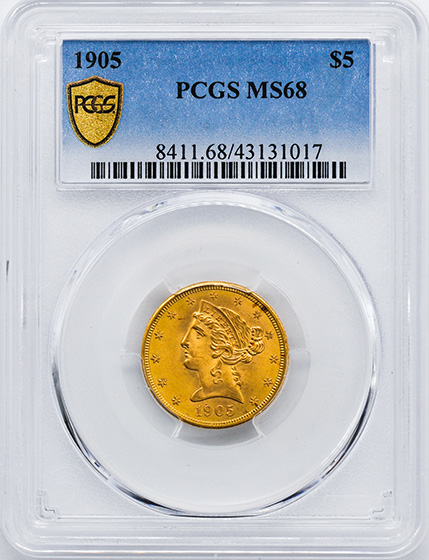 Picture of 1905 LIBERTY $5 MS68