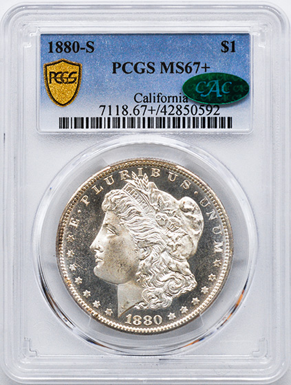 Picture of 1880-S MORGAN S$1 MS67+