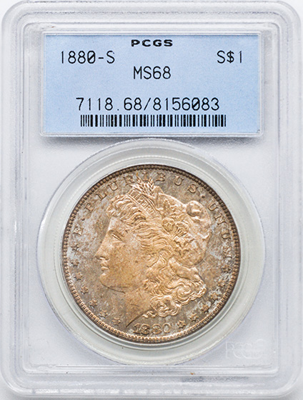 Picture of 1880-S MORGAN S$1 MS68