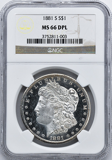 Picture of 1881-S MORGAN S$1 MS66 DMPL
