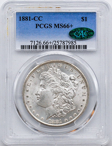Picture of 1881-CC MORGAN S$1 MS66+