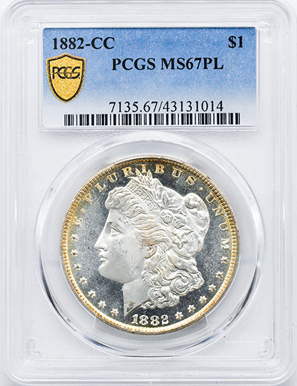 Picture of 1882-CC MORGAN S$1 MS67 Proof Like