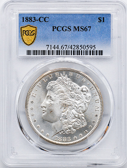 Picture of 1883-CC MORGAN S$1 MS67