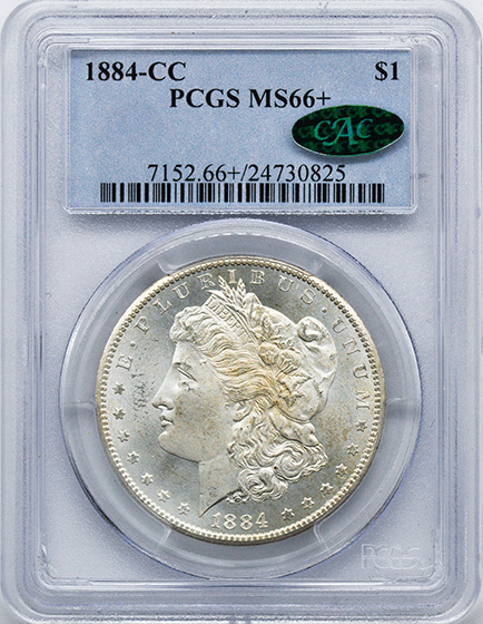 Picture of 1884-CC MORGAN S$1 MS66+