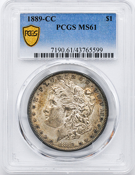 Picture of 1889-CC MORGAN S$1 MS61