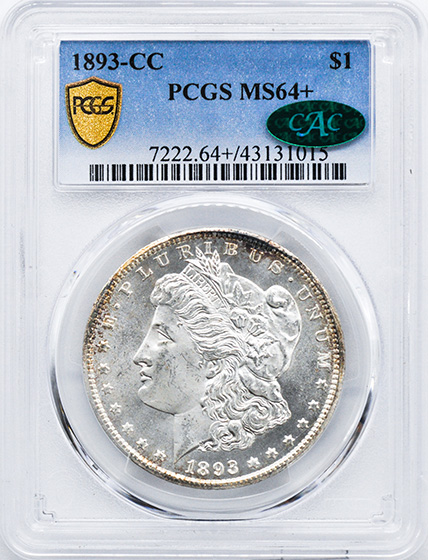 Picture of 1893-CC MORGAN S$1 MS64+