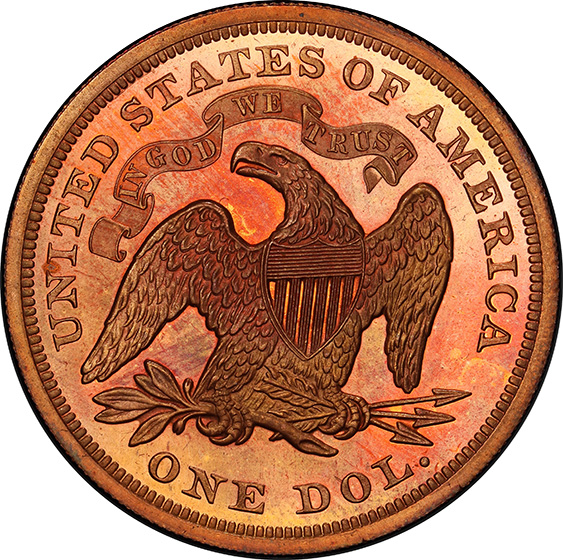 Picture of 1863 SEATED $1 J-346 PR66 Deep Cameo