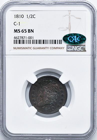 Picture of 1810 CLASSIC HEAD 1/2C MS65 Brown
