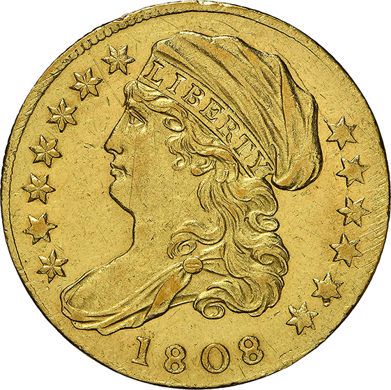 Picture of 1808 CAPPED BUST $2.5 MS62