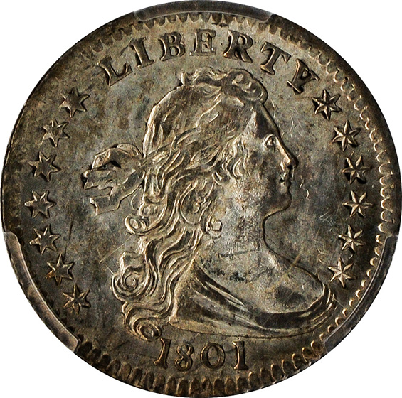 Picture of 1801 DRAPED BUST H10C MS64