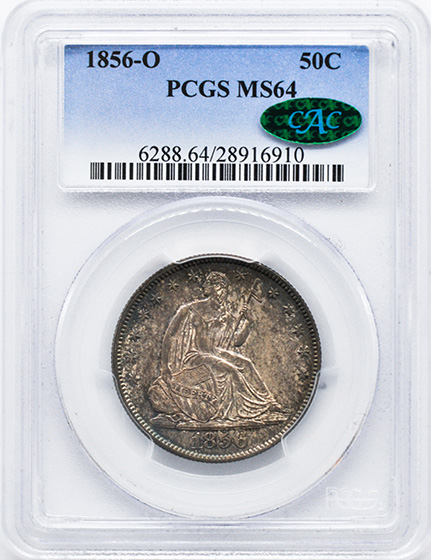 Picture of 1856-O LIBERTY SEATED 50C, NO MOTTO MS64