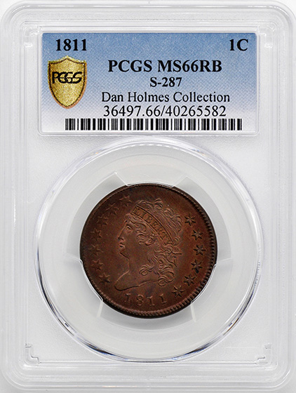 Picture of 1811 CLASSIC HEAD 1C MS66 Red Brown